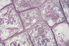 Purpurowa kamienna ściana Obrazy Stock