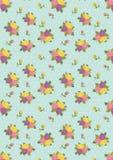 Purpurowa kolor żółty menchii róża z Błękitnym tłem Obrazy Stock