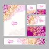 Purpurowa korporacyjna tożsamość z falowym wzorem Zdjęcie Royalty Free