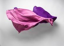 Purpurowa latająca tkanina Fotografia Royalty Free