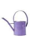 Purpurowa podlewanie puszka Odizolowywająca na bielu Zdjęcie Royalty Free