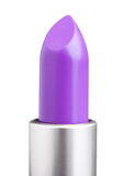 Purpurowa pomadka odizolowywająca na bielu Obrazy Stock