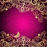 Purpurowa rocznik rama royalty ilustracja