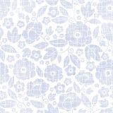 Purpurowa tkanina kwitnie tekstura bezszwowego wzór Zdjęcia Stock