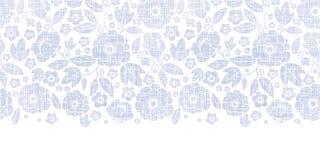Purpurowa tkanina kwitnie tekstury horyzontalny bezszwowego Zdjęcia Stock