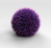 Purpurowa trawy piłka Ilustracja Wektor