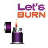 Purpurowa zapalniczka ilustracja wektor