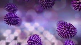 Purpurowe bakterie na bezpłatny spadać ilustracji