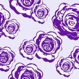 Purpurowe bezszwowe deseniowe róże na lekkim tle akwarela Fotografia Royalty Free