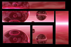 purpurowe globusy royalty ilustracja