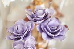 Purpurowe handmade róże Obraz Stock
