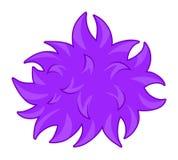 Purpurowe puszyste balowe bakterie royalty ilustracja