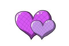 purpurowe serca Zdjęcie Royalty Free