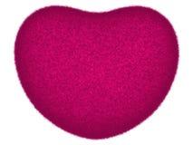Purpurowe Serce odizolowywający na bielu Zdjęcie Stock