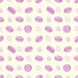 Purpurowego macaroon bezszwowy wzór Fotografia Stock