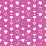 Purpurowego Serca tło Obrazy Stock