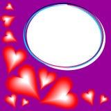 Purpurowego Serca tło z tekstem Zdjęcie Stock