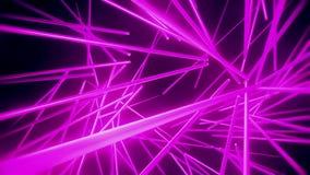 Purpurowej Neonowych tubk Vortex VJ pętli ruchu Abstrakcjonistyczny tło royalty ilustracja