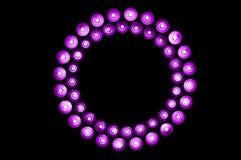 Purpurowi światła Fotografia Royalty Free