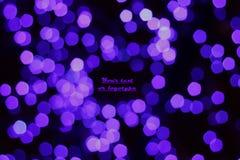 Purpurowi światła Zdjęcia Royalty Free