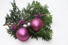 purpurowi Boże Narodzenie ornamenty Obrazy Royalty Free