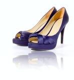purpurowi buty Obrazy Royalty Free