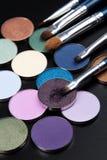 Purpurowi cienie z muśnięciem Zdjęcia Stock