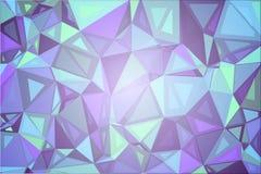 Purpurowi cienie zielenieją przypadkowych rozmiarów niskiego poli- tło ilustracji