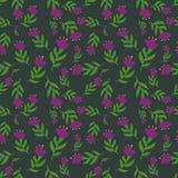 Purpurowi kwiaty Obrazy Royalty Free