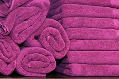 purpurowi ręczniki Obraz Stock