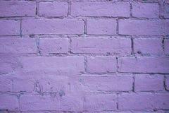 Purpurowy ściana z cegieł tło Zdjęcie Royalty Free
