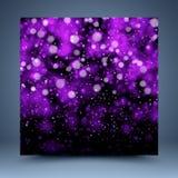 Purpurowy abstrakcjonistyczny szablon Zdjęcie Royalty Free