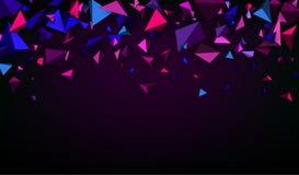 Purpurowy abstrakcjonistyczny sztandar ilustracja wektor