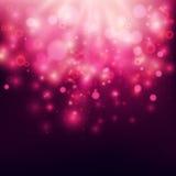 Purpurowy Abstrakcjonistyczny tła Bokeh tło Zdjęcia Royalty Free
