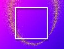 Purpurowy abstrakcjonistyczny tło z biel ramą ilustracji