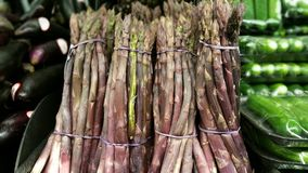 Purpurowy Asparagus Obrazy Royalty Free