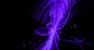Purpurowy błękit menchii abstrakt Wykłada krzyw cząsteczek tło ilustracja wektor