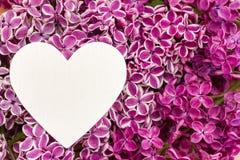 Purpurowy bez i serce obraz stock