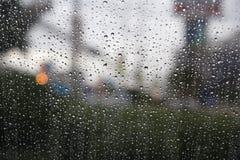 purpurowy deszcz okno Obraz Royalty Free