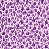 Purpurowy geometryczny klejnot kształtuje bezszwowego wzór Zdjęcie Stock