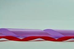 Purpurowy i czerwony faborek zdjęcie stock