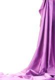Purpurowy jedwab drapuje Fotografia Royalty Free
