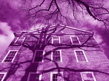 Purpurowy kondominium budynek zdjęcie royalty free