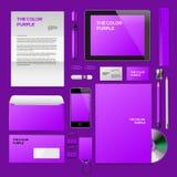 Purpurowy Korporacyjny ID mockup royalty ilustracja