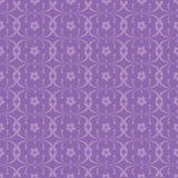 Purpurowy Kwiecisty ozdobny bezszwowy wzór Obrazy Royalty Free