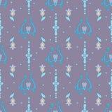 Purpurowy kwiecisty wzór Zdjęcia Stock