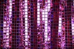 Purpurowy lily błyskotliwość kwadrata cekinu błyskotliwości tkaniny tło Obraz Royalty Free