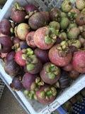 Purpurowy mangostan lub mangostan zdjęcie stock