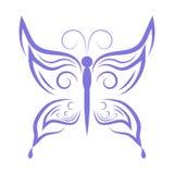 Purpurowy motyl Fotografia Royalty Free