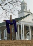 Purpurowy płótno na krzyżu dla Pożyczający obrazy royalty free